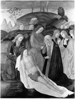 Fig. 1 Alesso di Benozzo Gozzoli, The Deposition of Christ, c.1500, Philbrook Museum of Art, photo: Murray Keyes, 12/8/1937.
