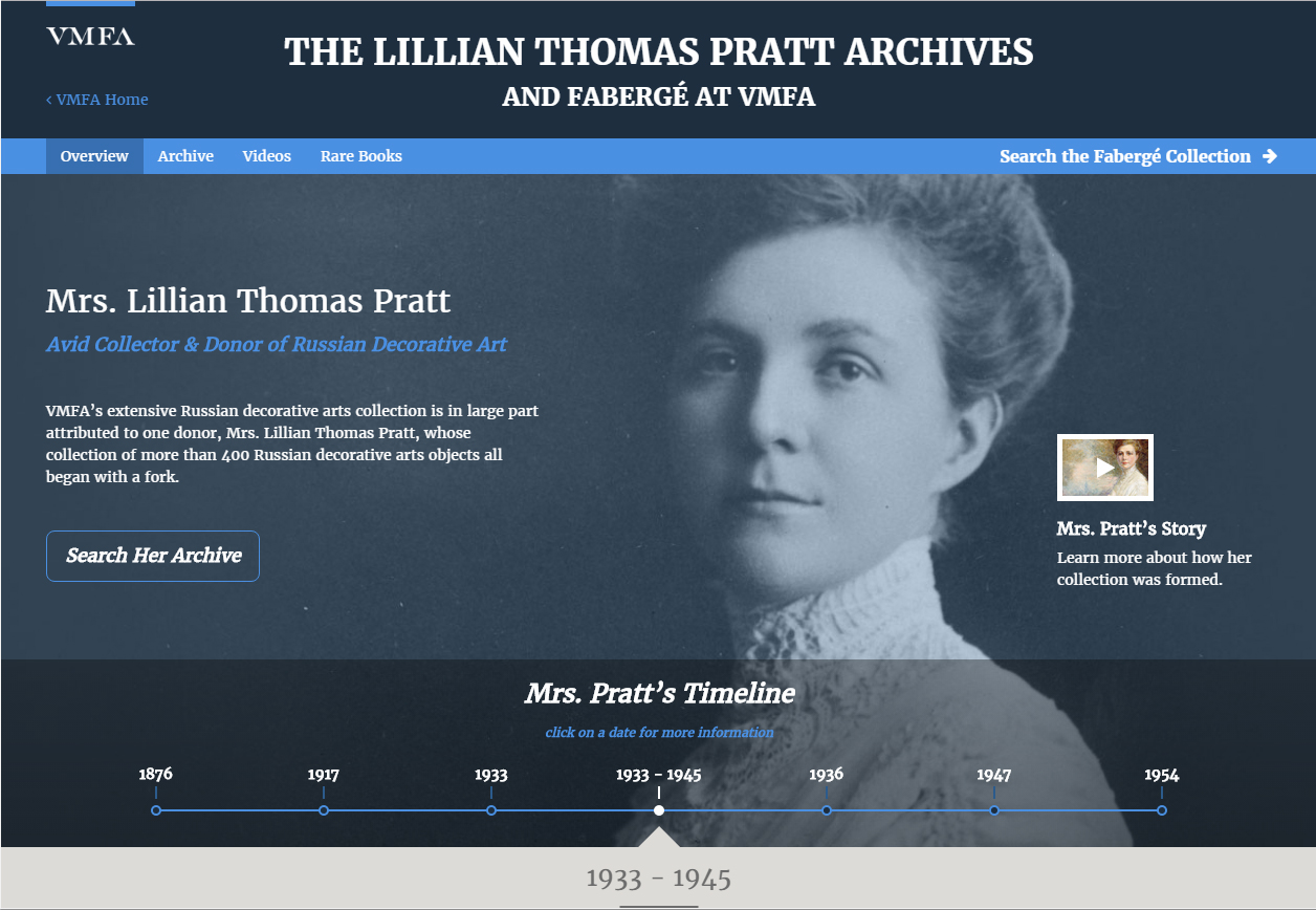 The Lillian Thomas Pratt Archives