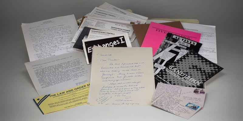 Selection of ephemera from the Evans-Tibbs Archive of African American Art at the National Gallery of Art Library